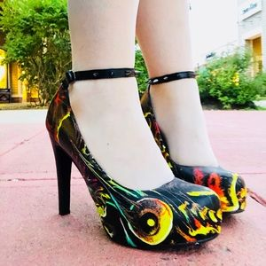 Iron Fist Studded Ankle Shoes